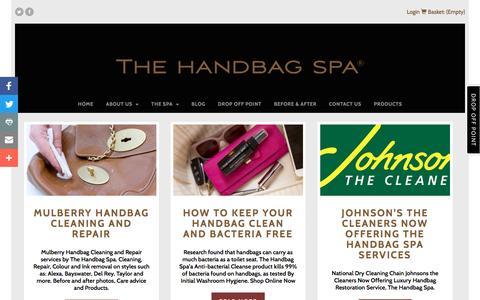 Screenshot of Blog thehandbagspa.com - Blog - The Handbag Spa - captured Dec. 1, 2016