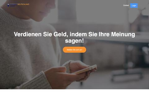 Screenshot of Home Page connectopinions.de - Home - captured Sept. 22, 2018