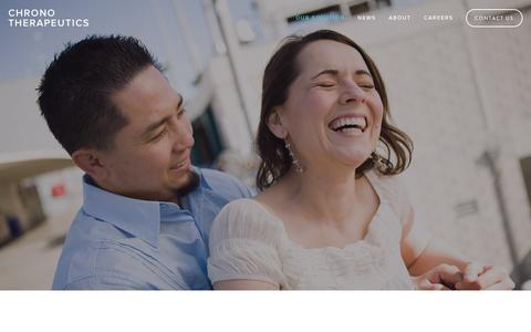 Screenshot of Home Page chronothera.com - Chrono Therapeutics - captured Aug. 11, 2015