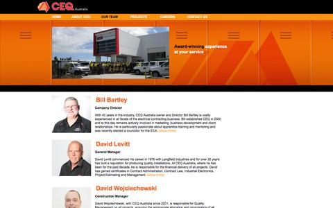 Screenshot of Team Page ceqaustralia.com.au - CEQ Australia : Powering Australian Industry - captured Sept. 26, 2014