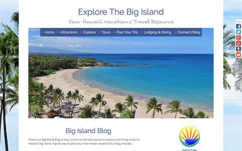 Screenshot of Blog explore-the-big-island.com - Big Island Blog - captured Sept. 23, 2018