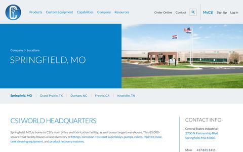 Screenshot of Locations Page csidesigns.com - Locations - Springfield, Missouri - captured Sept. 27, 2018