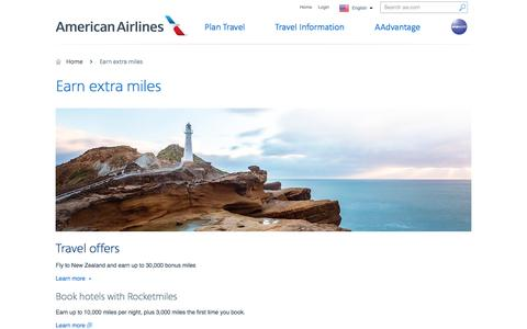 Earn extra miles - Bonus offers - American Airlines