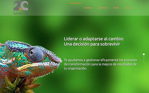 Screenshot of Home Page dosc.es - 2C Casado Consulting - Inicio - captured Oct. 26, 2017