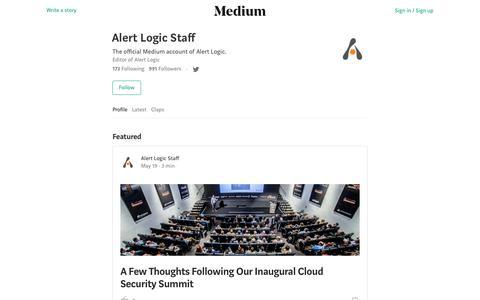 Alert Logic Staff – Medium