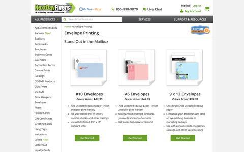 Envelope Printing | Custom Envelopes | NextDayFlyers