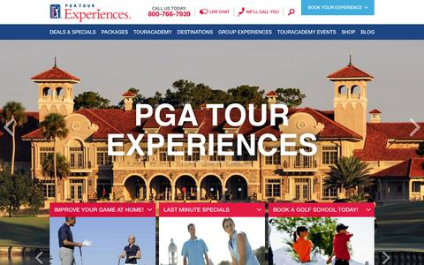Screenshot of Home Page touracademy.com - PGA TOUR Vacations, Golf Lessons & Packages   PGA TOUR Experiences - captured Oct. 1, 2014
