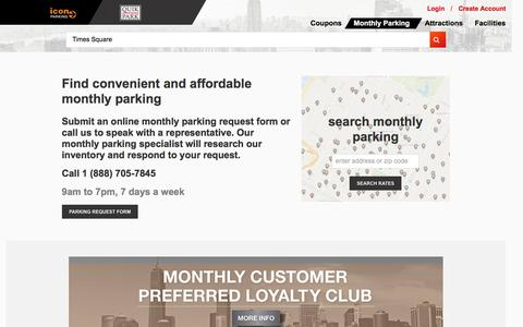 Monthly Parking in NYC | Discounts for Parking Monthly | IconQuikPark.com