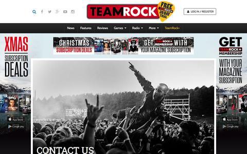 Screenshot of Contact Page teamrock.com - TeamRock - captured Dec. 5, 2015