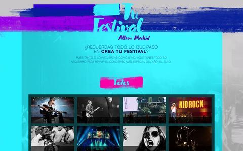 Screenshot of Home Page tufestival.com - Tu Festival - captured Sept. 3, 2016