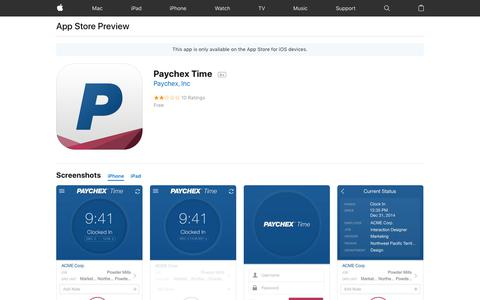 Paychex Time on the AppStore