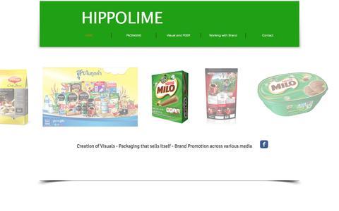Screenshot of Home Page hippolimedesign.com - Hippolimedesign - captured June 18, 2015