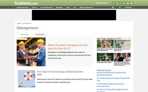 Screenshot of Team Page business.com - Management Resources and Articles - Business.com - captured Nov. 3, 2014