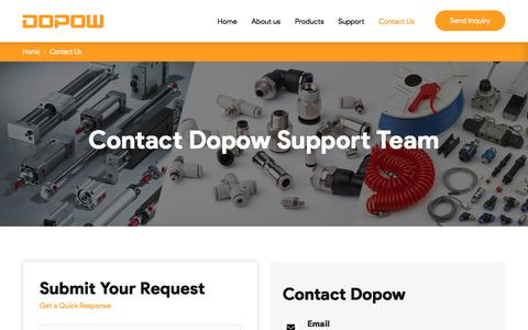Screenshot of Contact Page dopow.com - Contact Dopow Support Team for Any Inquiry Now - captured Dec. 4, 2019