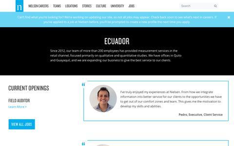 Ecuador – Nielsen Careers