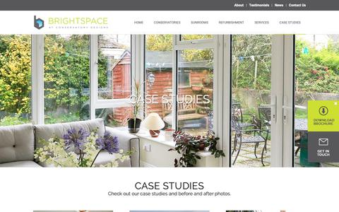 Screenshot of Case Studies Page conservatorydesigns.ie - Conservatories, Kitchens & Sunrooms | Conservatory Case Studies - captured Sept. 29, 2018