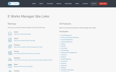 E Works Manager - Site Map