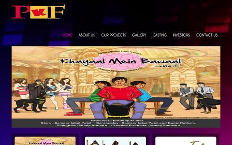 Screenshot of Home Page pradeepkumarfilms.com - Pradeep Kumar Films - captured Sept. 30, 2014
