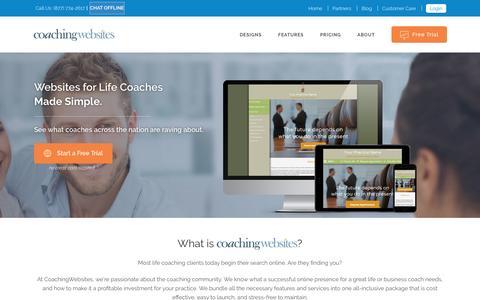 Screenshot of Home Page coachingwebsites.com - CoachingWebsites | - captured Sept. 2, 2016