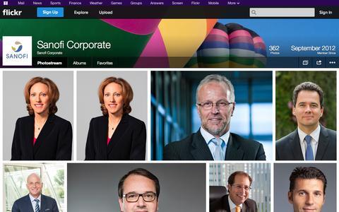 Screenshot of Flickr Page flickr.com - Flickr: Sanofi Corporate's Photostream - captured Oct. 23, 2014