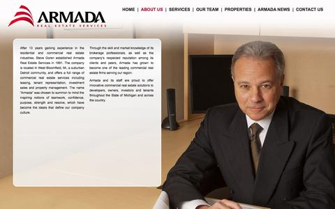 Screenshot of About Page armadarealestate.com - ABOUT US - captured Oct. 4, 2014