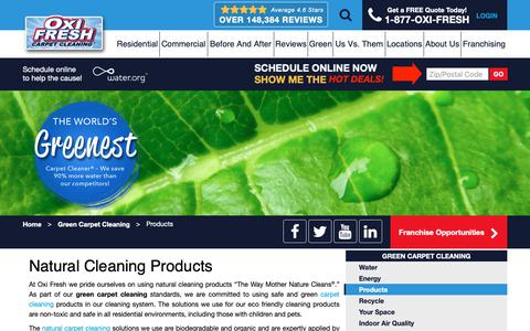 Screenshot of Products Page oxifresh.com - Natural Cleaning Products Green Carpet Cleaning - captured Jan. 5, 2019