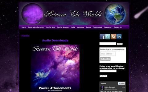 Screenshot of Press Page adambetweentheworlds.com - Media   Between The Worlds - captured Oct. 5, 2014