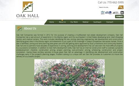 Screenshot of About Page oakhallcompanies.com - About Us :Oak Hall Companies LLC - captured Aug. 18, 2019