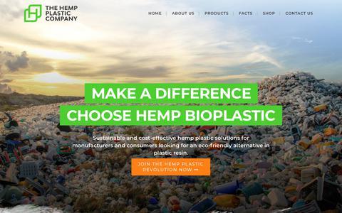 Screenshot of Home Page hempplastic.com - Hemp Plastic - Make a difference, Choose Hemp Bioplastic - captured Dec. 8, 2018