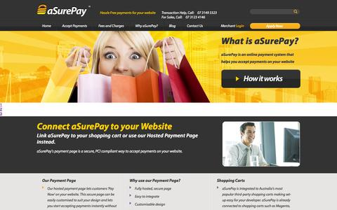 Screenshot of Developers Page asurepay.cc - aSurePay | Your Local Payment Specialists | Connect aSurePay to your Website - captured Sept. 30, 2014