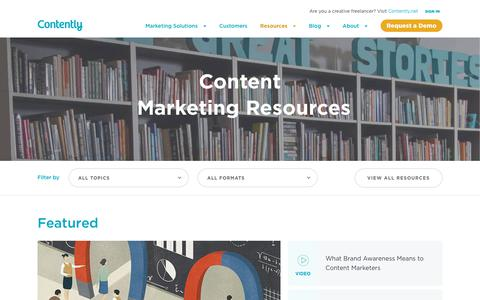 Screenshot of Case Studies Page contently.com - Content Marketing Resources | All the Content Tools You Need | Contently - captured Aug. 22, 2019