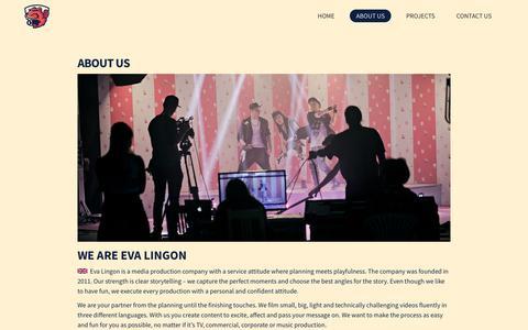 Screenshot of About Page evalingon.com - About us - Eva Lingon : Eva Lingon - captured Aug. 31, 2017