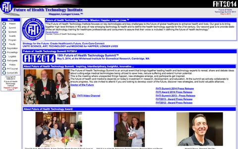 Screenshot of Home Page fhti.org - Future of Health Technology Institute - captured Oct. 6, 2014