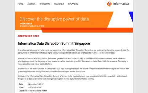 Informatica Data Disruption Summit |
