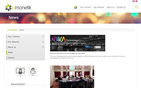 Screenshot of Press Page limonetik.com - News - captured July 3, 2016