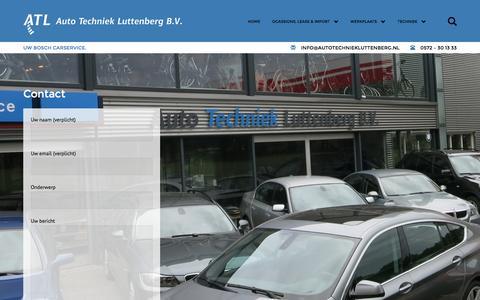 Screenshot of Contact Page autotechniekluttenberg.nl - AUTO TECHNIEK LUTTENBERG - captured March 3, 2016