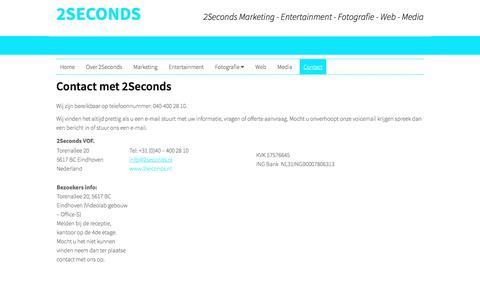 Screenshot of Contact Page 2seconds.nl - Contact - captured Jan. 30, 2017