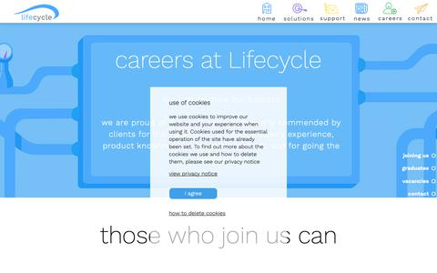 Screenshot of Jobs Page lifecycle-software.com - Lifecycle Software | Careers - captured Sept. 28, 2018