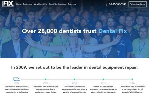 Screenshot of About Page dentalfixrx.com - About Dental Fix | In 2009 We Set out to Be the Leader in Dental Equipment Repair. - captured June 25, 2019