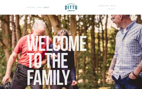 Screenshot of About Page ditto.uk.com - Studio — Ditto Creative - captured Oct. 12, 2017