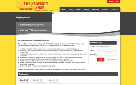 Screenshot of Login Page thepropertyshop.com.au - The Property Shop, Mudgee - Your Real Estate specialists in Mudgee, Gulgong, Rylstone, Kandos and across the Central West - captured June 15, 2016