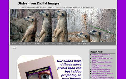 Screenshot of Home Page colorslide.com - Digital to 35mm Color Slides from ColorSlide.com - captured Jan. 22, 2017
