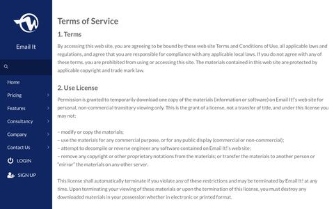 Terms of Service - Email It