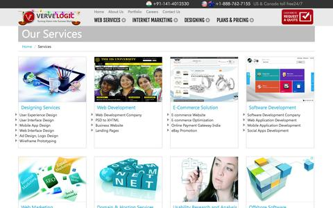 Screenshot of Services Page vervelogic.com - Verve Logic   Services - captured Oct. 26, 2014