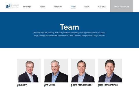 Screenshot of Team Page seaportcapital.com - Team - Seaport Capital - a private equity company - captured June 29, 2018