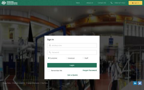 Screenshot of Login Page iasonline.org - IAS | Sign In - captured Oct. 12, 2018