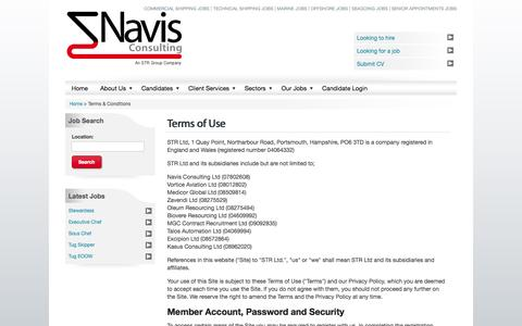 Screenshot of Terms Page navis-consulting.com - Shipping and Maritime Jobs | Navis Consulting - captured Nov. 5, 2014