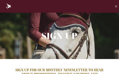 Screenshot of Signup Page paramountsaddlery.ca - NEWSLETTER — Paramount Saddlery - captured July 15, 2018