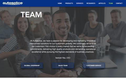 Screenshot of Team Page autosplice.com - Team | Autosplice - captured Oct. 9, 2017