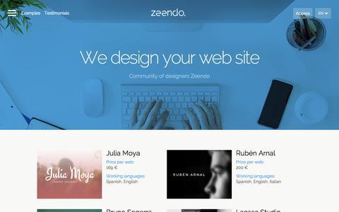 Screenshot of Developers Page zeendo.com - Zeendo - captured Nov. 17, 2015
